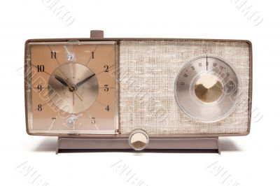 Vintage Clock Radio Isolated