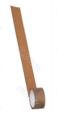 long stripe of brown tape