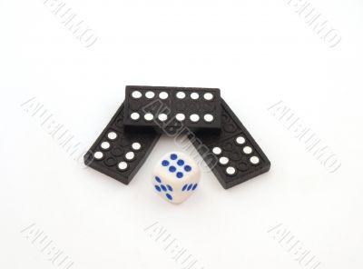 Dominos and dice.