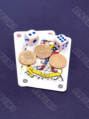 Gambling with dice and cards.
