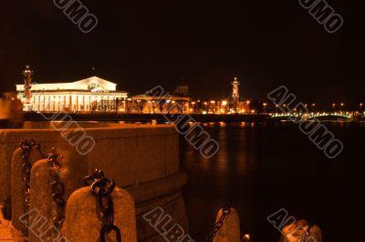Chain of drawbridge in Saint Petersburg