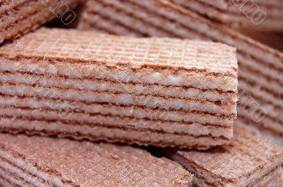 wafer-cakes with cacao mass