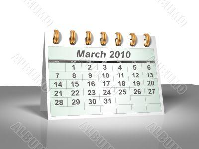 March 2010 Desktop Calendar.