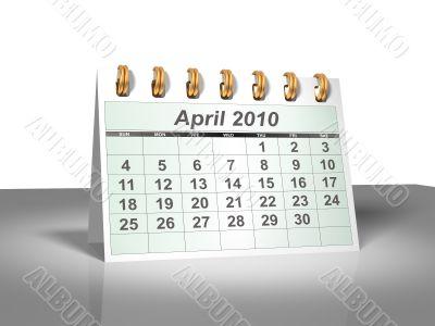 April 2010 Desktop Calendar.
