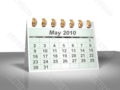 May 2010 Desktop Calendar.