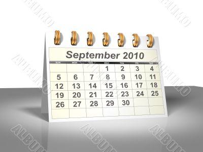 September 2010 Desktop Calendar.