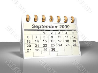 September 2009 Desktop Calendar.