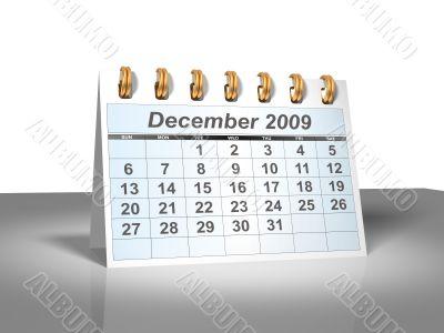 December 2009 Desktop Calendar.