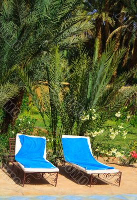 relaxation area in an exotic holiday resort  2