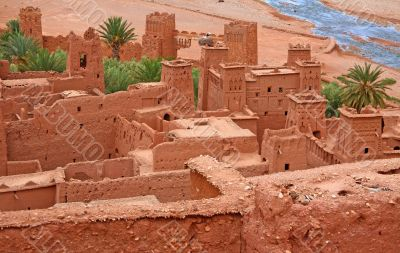 view from a traditional Moroccan Kasbah