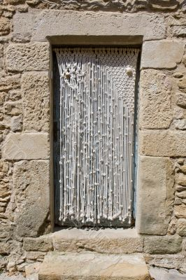 Macrame doorway curtain