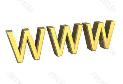 WWW in gold 3D