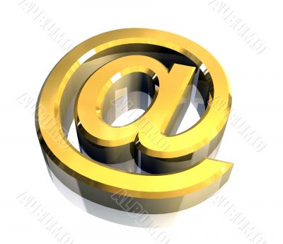 email symbol in gold