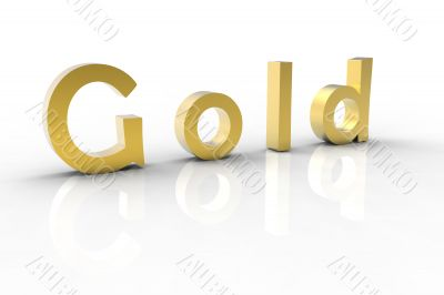 3d golden text