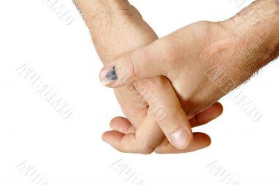 Manual workers hands