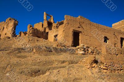 ruins of moroccan kasbah