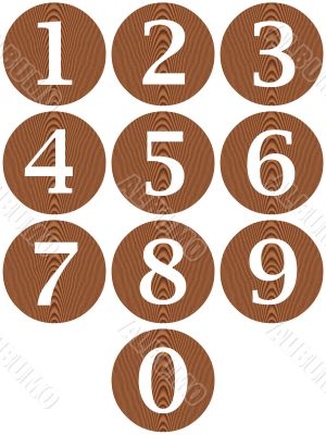 Wooden Framed Numbers