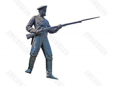 Bronze figure the soldier