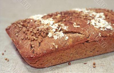 Rye bread close up