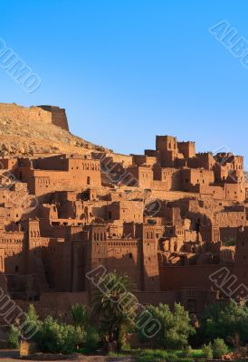 morning view on traditional Moroccan Casbah