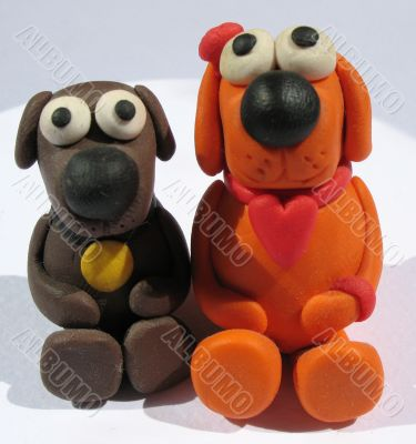 A plasticine toys. Handmade - Earnings