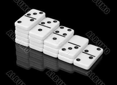 Stairs of bones domino