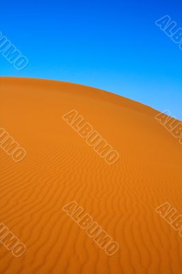 blissful view of sand dunes