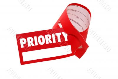 Priority label luggage - business class flight