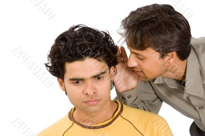 Share  secrets between two men
