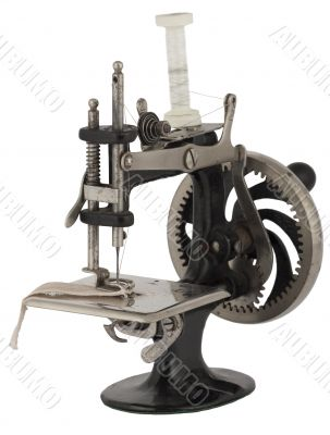 old historical sewing machine