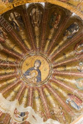 Interior view of Chora church in Istanbul