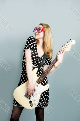 girl with guitar separated