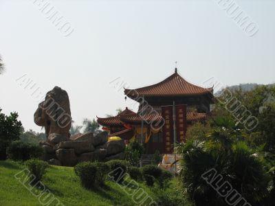 Ear of the Buddha and pagoda