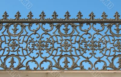Decorative cast-iron fence
