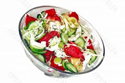 Appetizing fresh salad