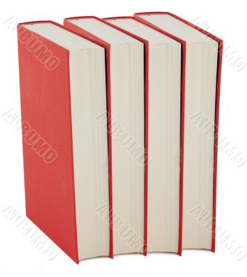 Book with red book jacket