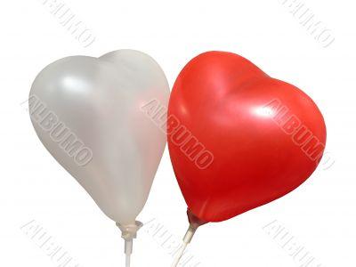 Air-balloons. St. Valentine`s day