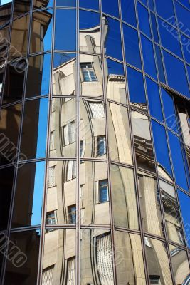 urban building reflection