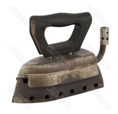 Old antique Iron with Gas