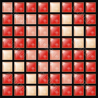 Background from red and pink tile