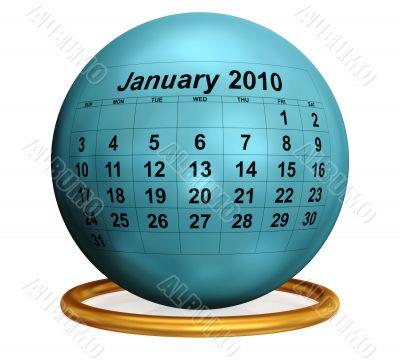 January 2010 Original Calendar.