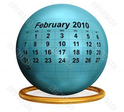February 2010 Original Calendar.