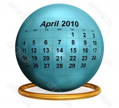 April 2010 Original Calendar.