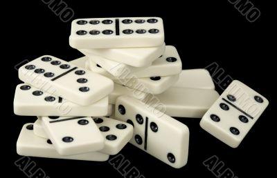 Heap of domino bones