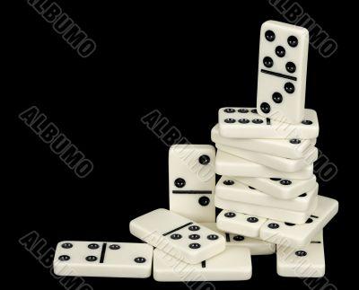 Heap from domino bones