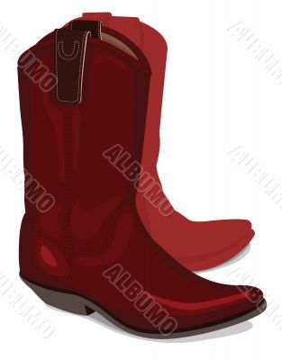 Vector illustration of cowboy boots