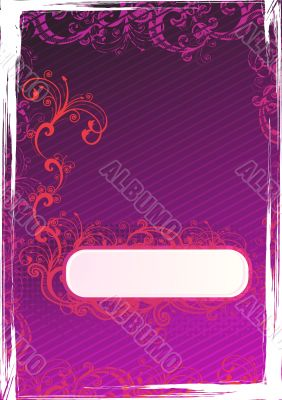 Vector illustration of grunge purple wallpaper