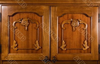 Close-up of wooden doors