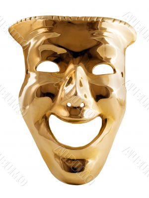 Golden mask.