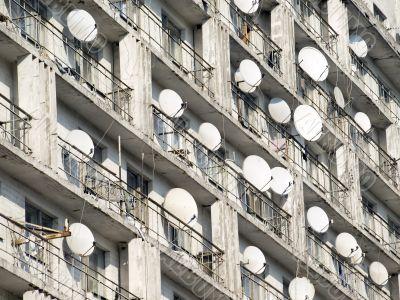 Antennas background.